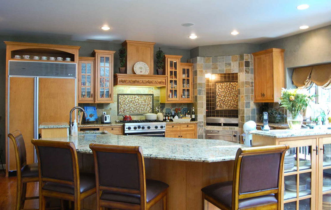Get Nutmeg finish on your new cherry wood kitchen. Previous Projects